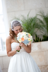 Bridal bouquet created by Necoh Brewington-Mitchell