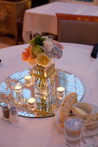 Wedding centerpiece designed by Necoh Brewington-Mitchell