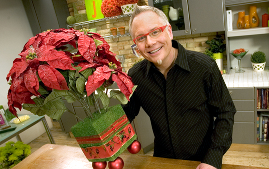 How to create a Permanent Poinsettia Arrangement