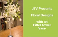 How to make an arrangement in an Eiffel Tower vase