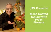 How to create a Topiary Form with Fresh Flowers and Ribbon!