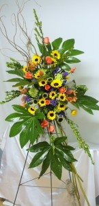 flower arrangement designed by B.J. Pitts