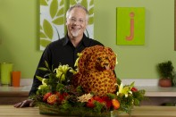 How to Create a Dog Sculpture out of Flowers!