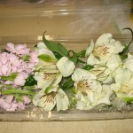 Photo of Flower Bouquet with Alstroemeria and Lissianthus
