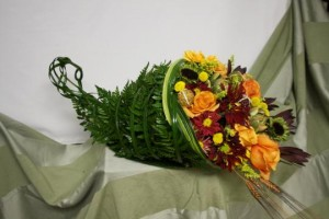 "BJ Pitt's winning entry ""Cornucopia"" from uBloom and Leatherleaf Design Contest sponsored by FernTrust"