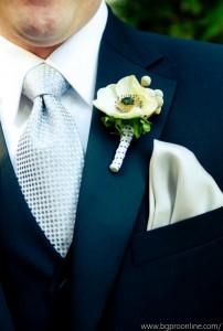 Wedding boutonniere designed by Necoh Brewington-Mitchell