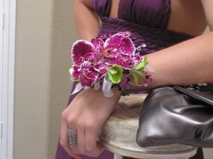 Wrist corsage created by Kristi Landphere