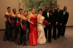 Wedding party flowers designed by Necoh Brewington-Mitchell