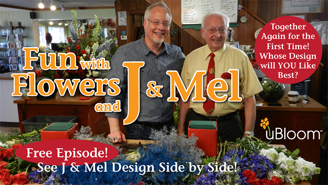 J & Mel went head-to-head in a father-son flower contest for uBloom to promote American Grown Flowers, Foliage & Farms!