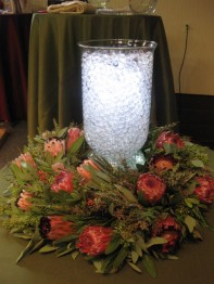 FAMOUS Resendiz Protea Wreath with a G3 Hurricane, Deco Beads and SUMIX® from Acolyte!