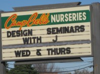 Holiday Seminars at Campbell's Nurseries... with J! A 14 year Tradition Continues!