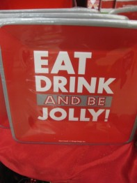 This Napkin says it all.... Campbell's Has a Complete Line of Holiday Plates and Napkins!
