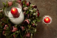 Mel Resendiz Protea Wreath Christmas 2011... BEFORE!