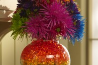 How to a Create a Rainbow Arrangement with Deco Beads and Colorful Tinted Flowers