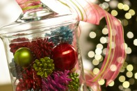 How to Create Christmas-Filled Apothecary Jar
