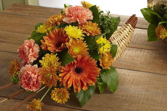 How to arrange flowers_Thanksgiving Cornucopia