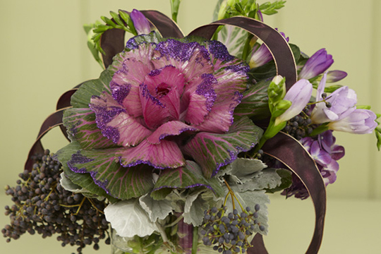 How to arrange flowers- Brassica (Ornamental Kale) Arrangements