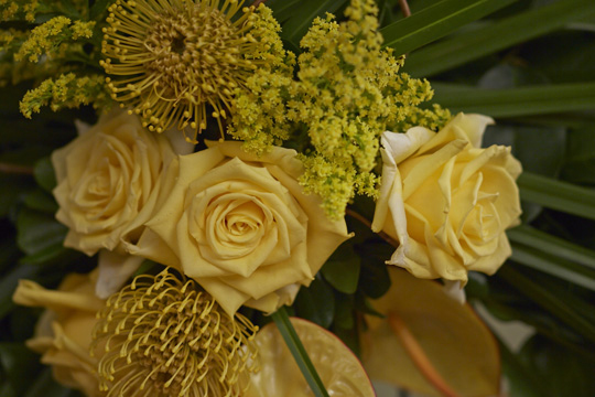 "How to arrange flowers- Sympathy Set Pieces and ""Simply Sympathy"" solutions from Alpha Fern Company"