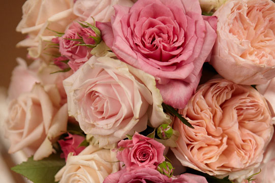 How to arrange flowers_All Rose Wedding Bouquet