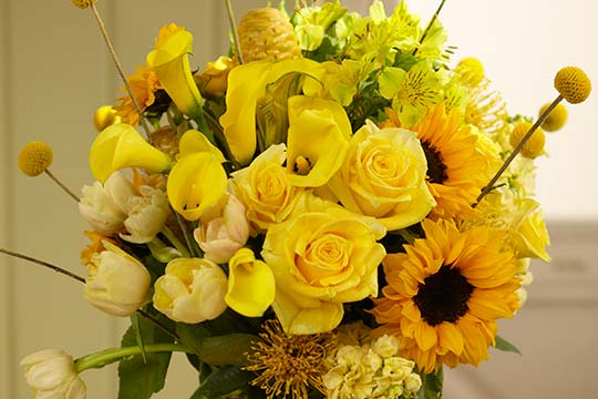 How to Arrange Flowers_Yellow Flowers = Get Well FASTER!