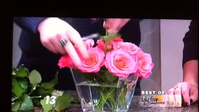Take 5 with J - 7,4,1 and You're Done...Easy Tips for Arranging Roses!