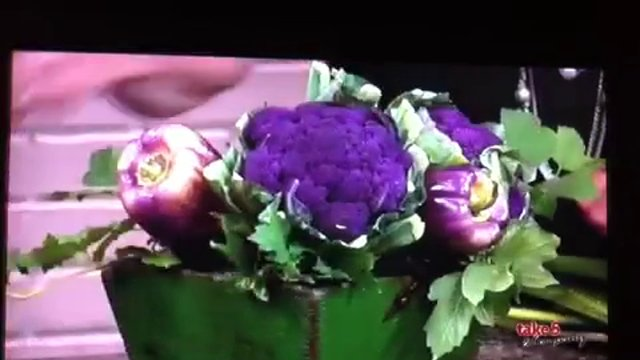 Take 5 with J - Arranging Flowers and Vegetables - Purple Passion!