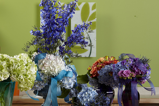 How to Arrange Flowers_Hydrangea Wedding Bouquets