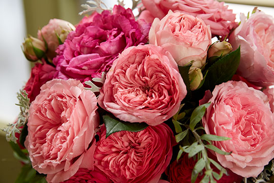 How to Arrange Flowers_Garden Rose Wedding Bouquet