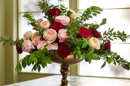 How to Arrange Flowers_David Austin Rose Arrangement