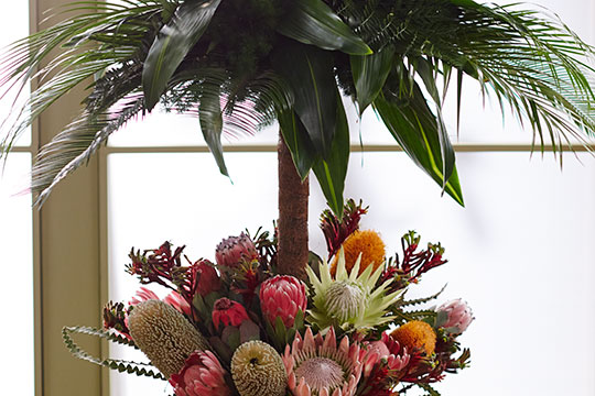 How to Arrange Flowers_Protea - Tropical Event Centerpiece