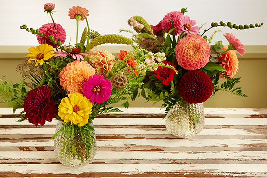 Dahlia and Zinnia Bouquets - made Easy!
