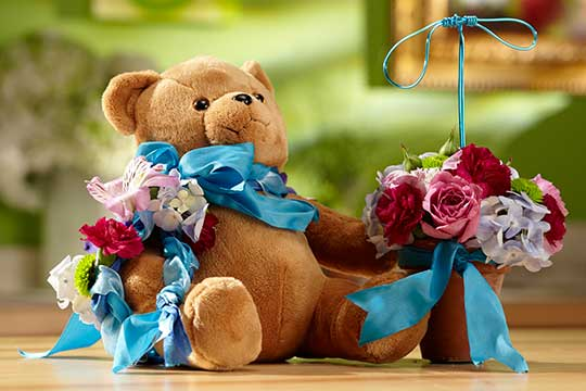 "Ring ""BEAR-er"" and Flower Girl Flowers!"