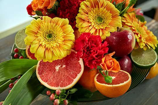 Fruit and Flowers Centerpiece!