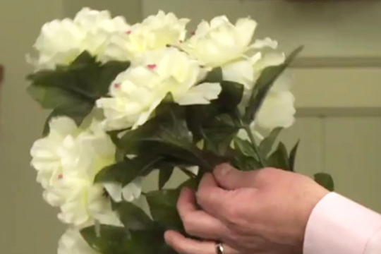 Adjusting Foliage On Silk Flowers