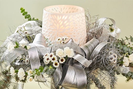 Silver & White Centerpiece!